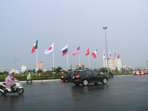 ダナン国際花火大会参加国国旗