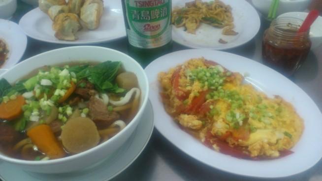 中華料理と青島ビール!