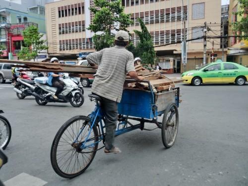 ベトナムの3輪自転車