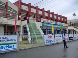 日本のスポンサーが並ぶスタジアム
