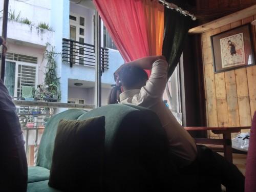 昼下がりのベトナムカフェ風景