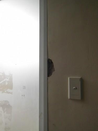 [2013/6/30]部屋の壁が崩れました