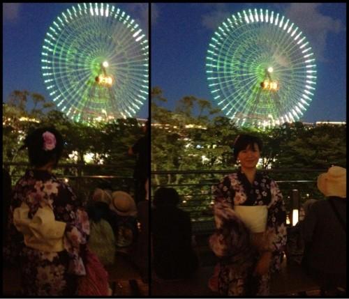 日本人のように浴衣を着ちゃいました