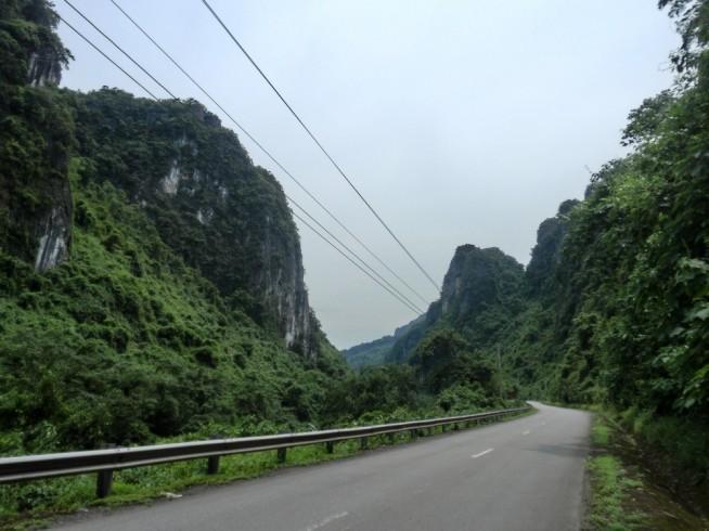 山岳地帯です。