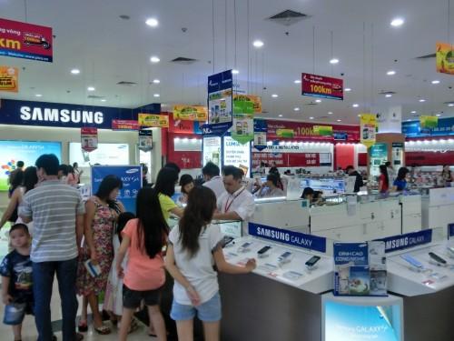 ベトナムの携帯売場