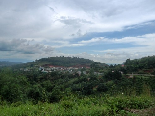 自然の中の集落