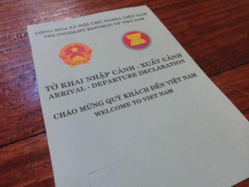ベトナムのバイク輸出証明書