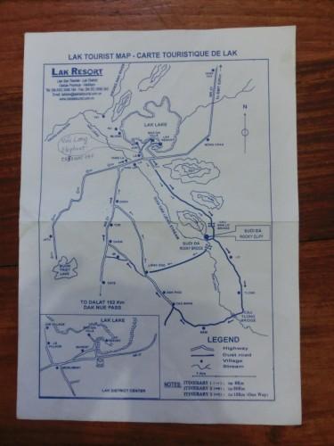 ラック湖周辺地図