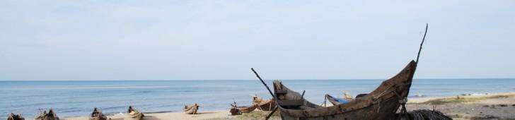 [2013/8/16]海と白砂とかご舟と