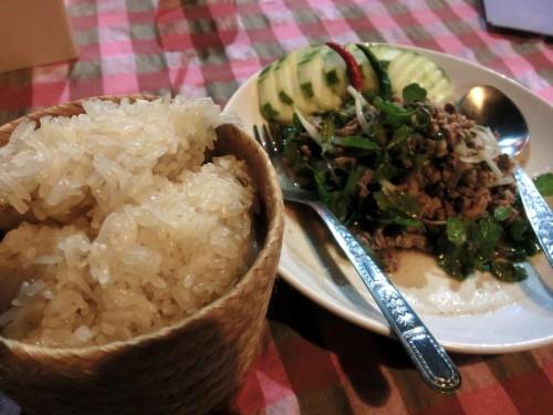 デット島で食べたラープ(Lap)