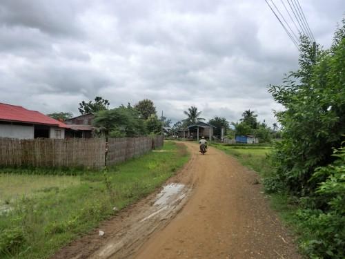 コーン島内の道