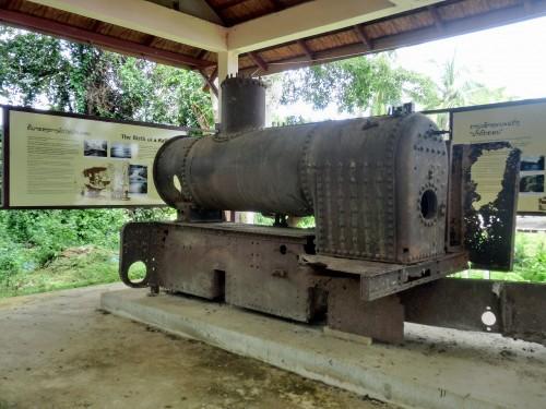 コーン島にあるもう一台の蒸気機関車