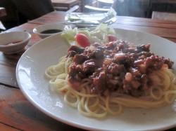 ヴェッキオカフェのスパゲティー