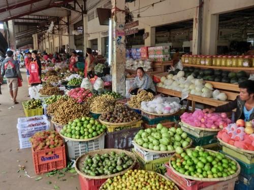 パークセー新市場の野菜売り場