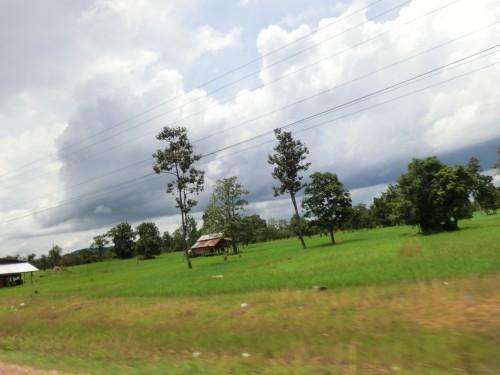 国道から見える景色