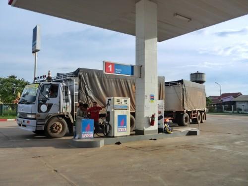 東西経済回廊のガソリンスタンド