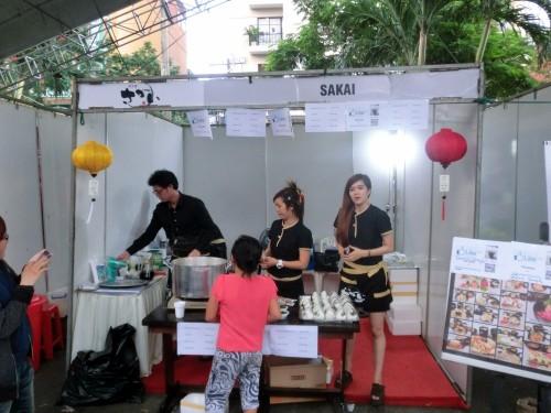 日本料理屋「さかい」のブース。10%割引券を配布していました。