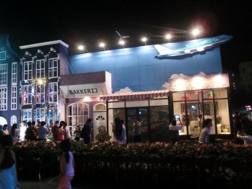 オランダの商店街をイメージしています