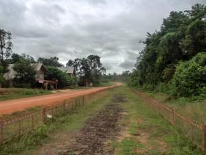 保存されているラオス国内のホーチミン・ルート