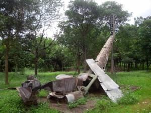 墜落したまま保存されている戦闘機