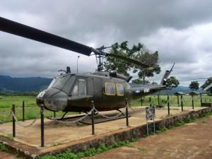 米軍のマークが付いているヘリコプター