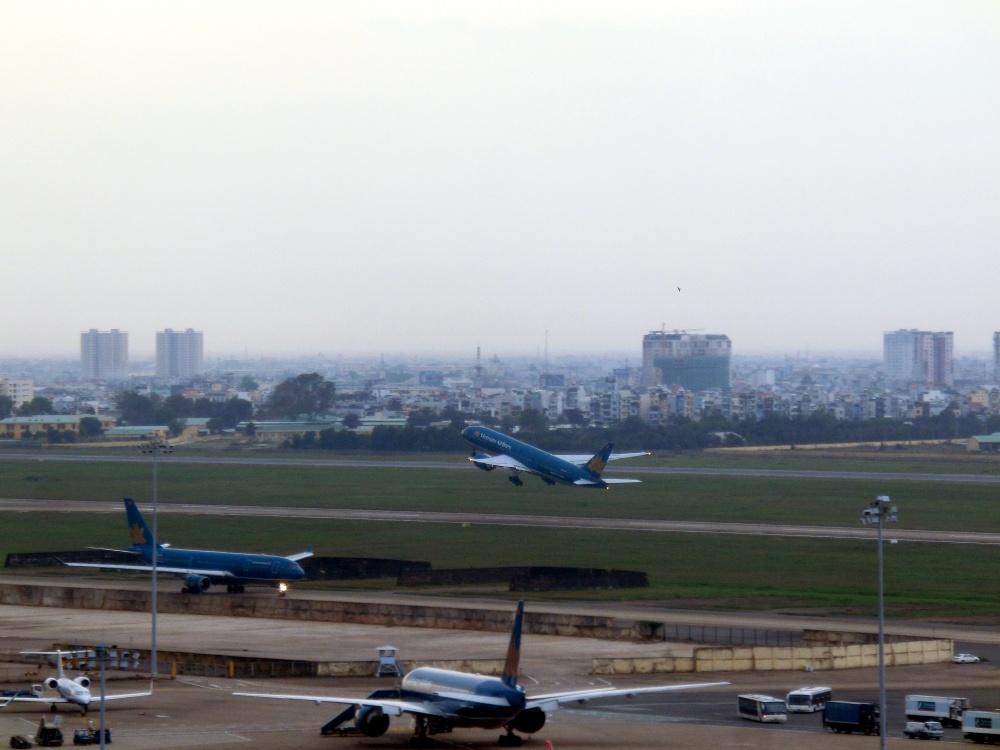 飛行機の離陸の様子もはっきり見えます