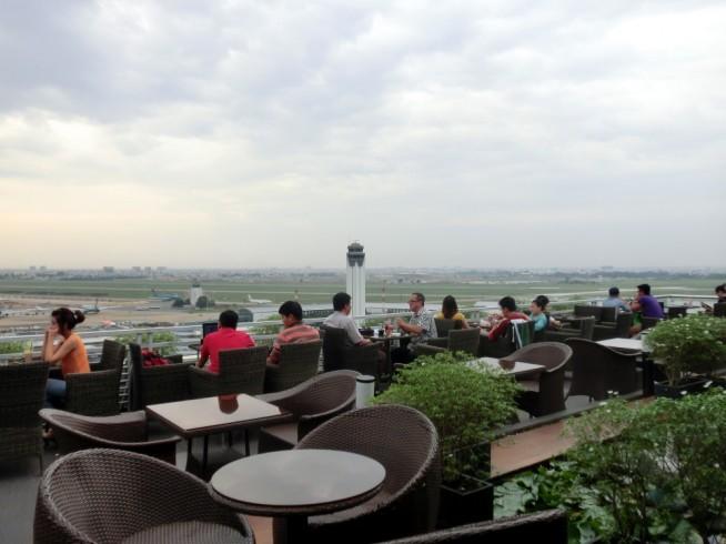 まるで空の上にいるようなカフェです。