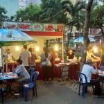ドイツビールと書いてあるベトナム料理店