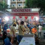 インドネシアのブースではバナナリーフに入ったナシゴレンがありました。
