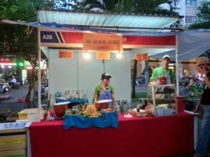 ラオスブース。ベトナム料理に似てる。