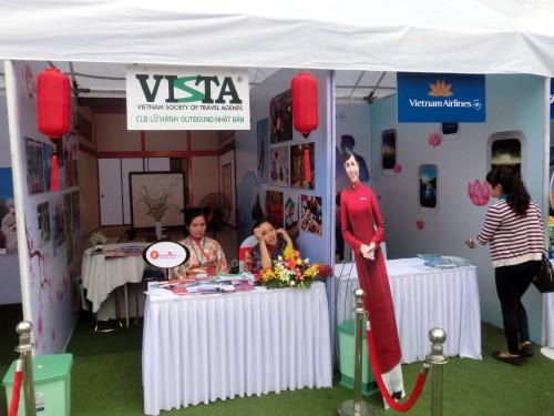 ベトナムの旅行団体とベトナム航空ブース