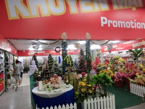 大型スーパーMetroのクリスマス売場