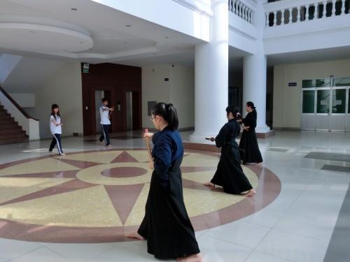 生徒たちの練習風景