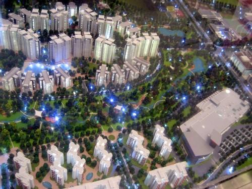 セラドンシティの模型