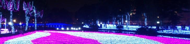 ホーチミンのイオンモールにある日本の四季をイメージしたイルミネーションは2月14日まで開催中