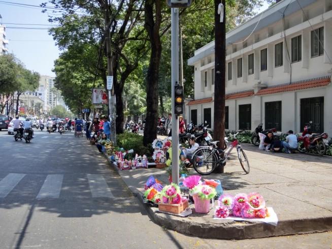 路上の花売り