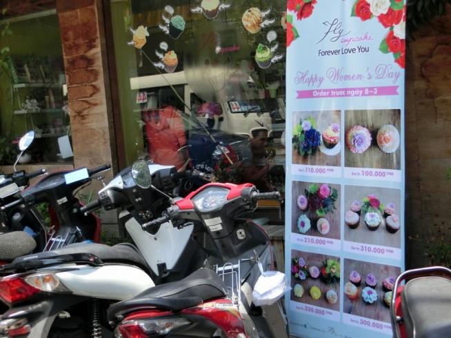 カップケーキ店の国際女性デー商品