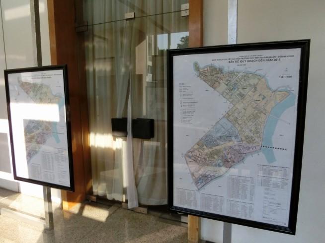 市内の学校の計画マップ