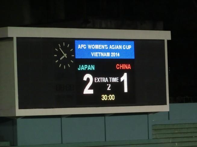 日本 2 - 1 中国