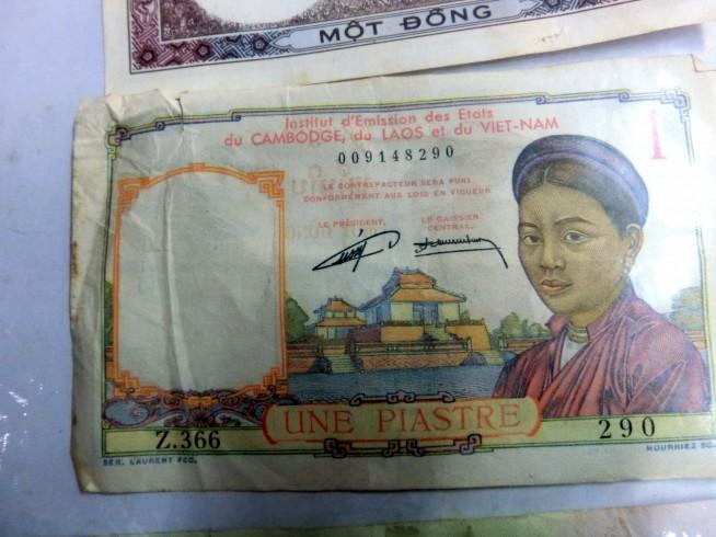フランス統治時代の紙幣