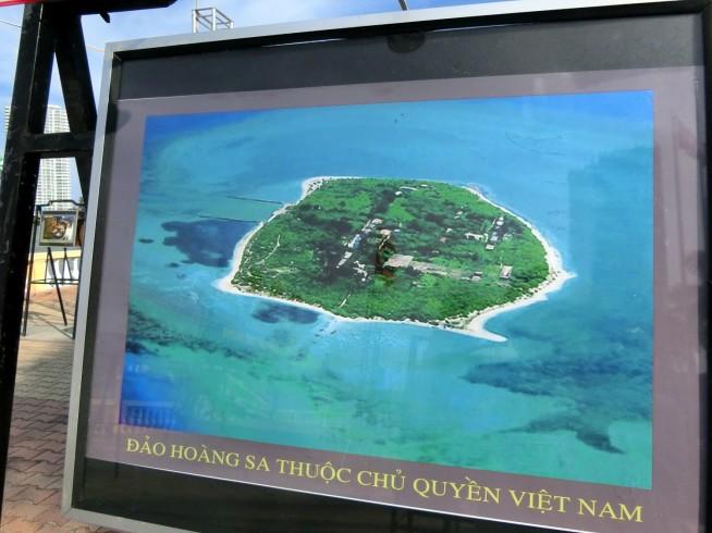 「ホアンサ諸島のベトナム領の島」