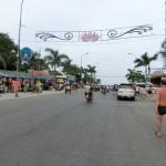 ビーチに向かう道路
