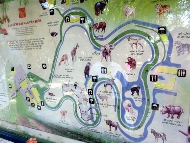動物園内マップ