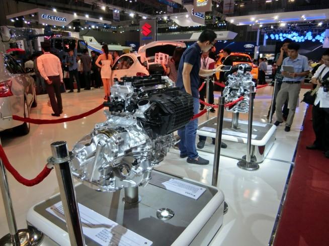 エンジンの展示