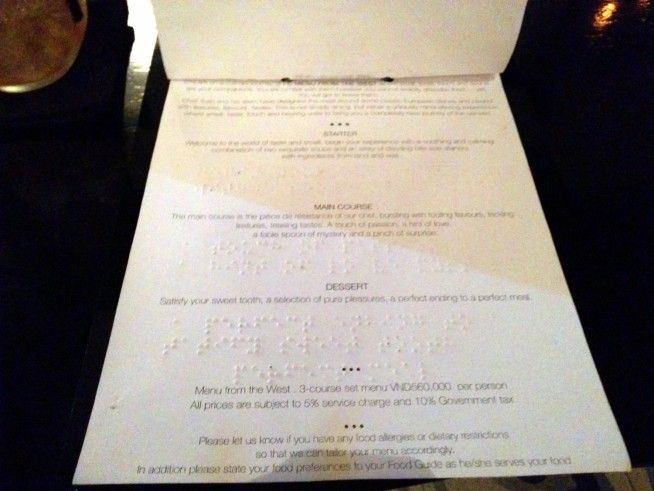 Menu from WEST