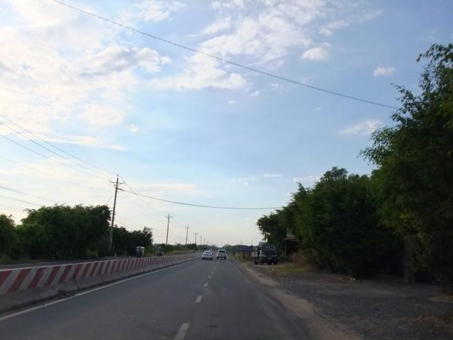 タイニン省の国境近く