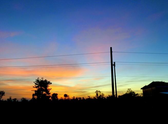 とってもきれいな夕日でした