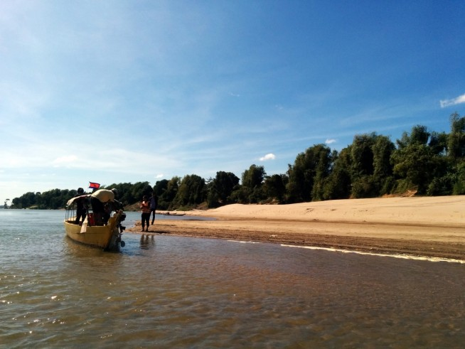 イルカのウォッチングポイントとなる砂浜