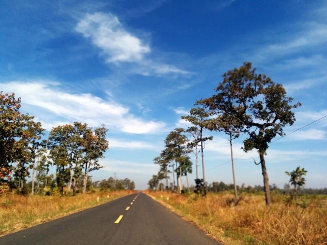 カンボジア国j道62号線を北上