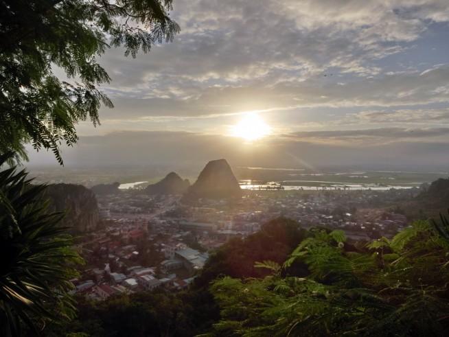 五行山から見る夕日